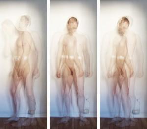 Akt mit drei Löchern.« Triptychon Fotografie / triptych photography